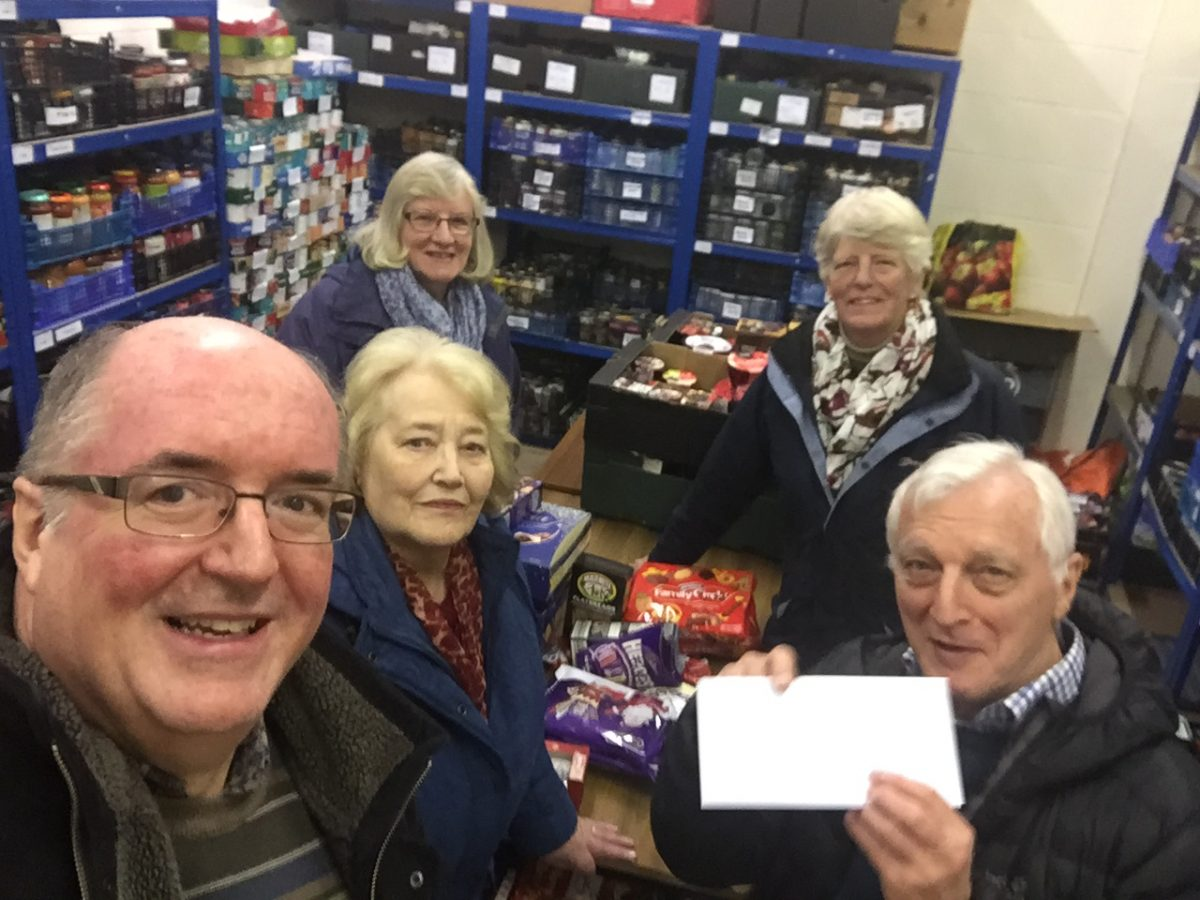 Droitwich Foodbank And Salvation Army Given Festive Boost By