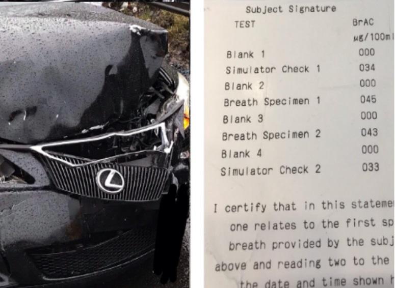 Banned motorist arrested for drink-driving after crash on ...