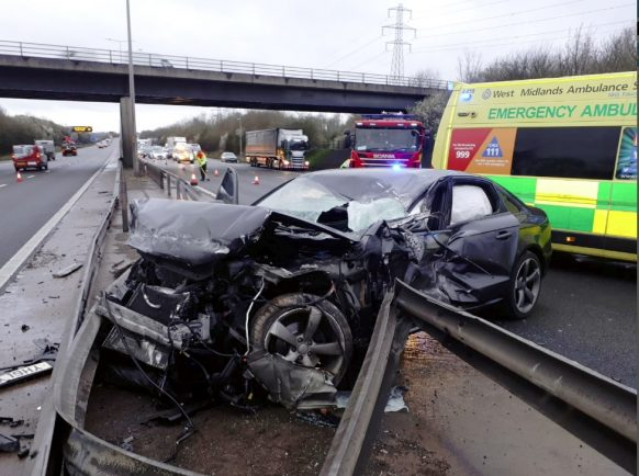 Drivers warned to take care after two crashes on the M5 in